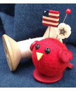 Roxie Redbird Button Buddies pincushion kit JABC Just Another Button  - $20.00