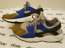 Nike WMNS PRM Womens Sz 8.5 1/2 Air Huarache Run Premium Olive Silver 683818 NSW - $41.68