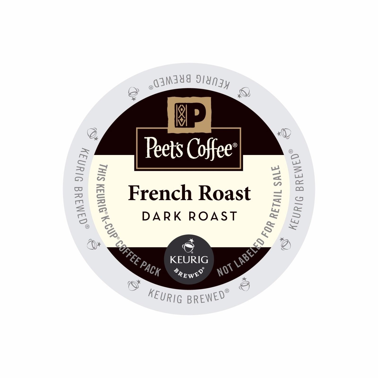 Peet's Coffee French Roast Coffee, 88 count K cups, FREE SHIPPING !