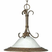 Golden Umber Finish Hanging Pendant Light Fixture Progress Lighting P505... - £73.35 GBP
