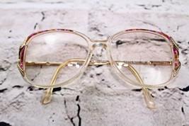 Safilo Elasta Vtg 80s 90s Clear Purple Plastic Eyeglasses Frames Italy S... - $29.69