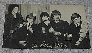 1960's Carnival Arcade Card Rock Group The Rolling Stones