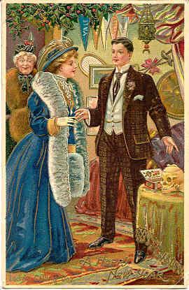 Happy New Year 1908 Vintage German Post Card