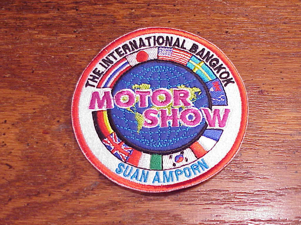 New International Bangkok Motor Show Patch, Thailand