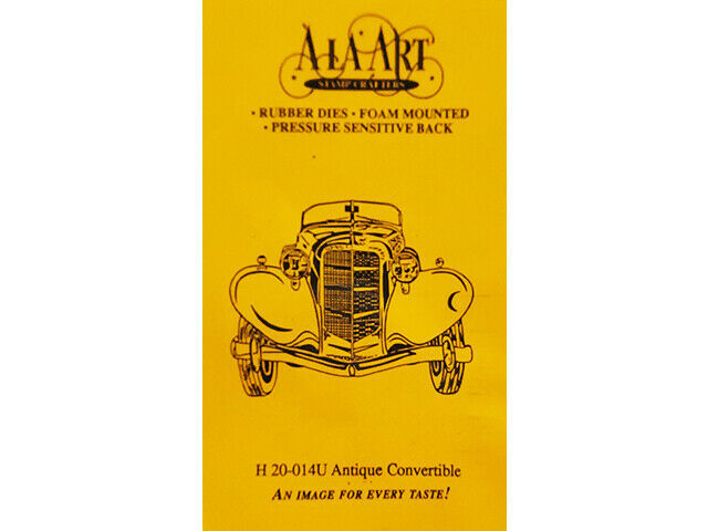 A La Art Stamp Crafters Antique Convertible Rubber Cling Stamp #H20-014U