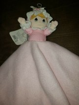 NEW! Precious Moments Lovey Security Blanket Plush Girl Doll Satin Pink Blonde - $28.01