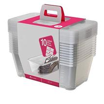 MRT SUPPLY 5.7/6 Liter/Quart Clear Stacking Storage Box Clear Container,... - $194.48