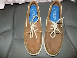 Sperry Top-Sider Defender 2-Eye STS14511 Brown Slip On Boat Shoes Size 9... - $39.00