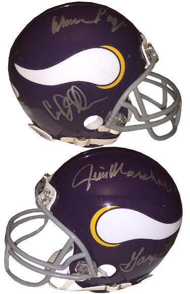 Purple People Eaters signed Minnesota Vikings TB Mini Helmet w/ Carl Eller/Alan