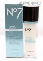 Boots No7 Protect & Perfect Advanced Anti Aging Serum Bottle 1 oz, NEW S... - $32.36