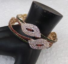 Ethnic 2Pc Indian Fashion Jewelry Bracelet Party Wear Zirconia Bangles S... - $9.49
