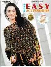Leisure Arts More Easy Accessories 12 Crochet Designs 3982 & Lion Brand ... - $19.57