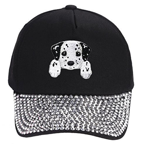 Dalmation Hat - Cute Puppy Dog Adjustable Cap (Rhinestone)