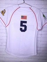 Cooperstown All Star Village Youth XL MLB White Jersey Red Sox Green Monster #5 image 2