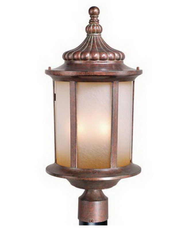 Vaxcel Lighting Exterior Outdoor Patio Garden Post Lantern Lamp Bronze Finish