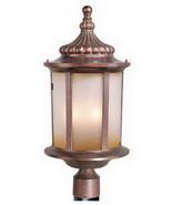 Vaxcel Lighting Exterior Outdoor Patio Garden Post Lantern Lamp Bronze F... - $115.83