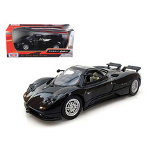 Pagani Zonda C12 Black 1/24 Diecast Car Model by Motormax 73272bk - $29.91