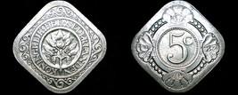 1923 Netherlands 5 Cent World Coin - $34.99