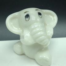 WADE WHIMSIES BABY ELEPHANT FIGURINE miniature porcelain pachyderm Engla... - $27.72