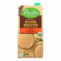 Pacific Natural Foods Organic Beef Bone Broth - Case Of 12 - 32 Fz - 454... - $111.97