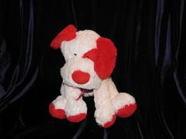 Animal Adventure Stuffed Plush Puppy Dog 2006 Pink Red Heart Ribbon Bow - $42.31