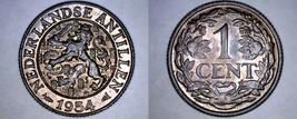 1954 Netherlands Antilles 1 Cent World Coin - Juliana - $9.99