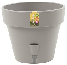 Self Watering Planter LATINA 7.9 Inch Grey Flower Pot - $325,70 MXN