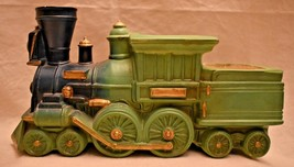 Train Engine and Coal Car Planter Green Napcoware? Numbered 10 inches long - ₹1,447.16 INR