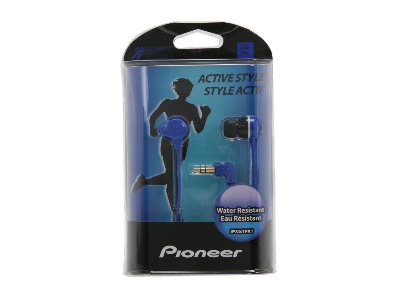 Pioneer Blue SE-CL331-L Canal Water-Resistant Earbud Headphone - $17.49