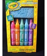 Crayola Body Wash Pen Set 5 Fruity Scents Body Wash Pens With Blue Sponge - $11.87