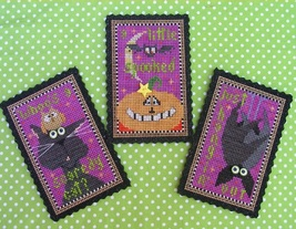 Triple Treat Halloween Ornament cross stitch kit  Val's Stuff    - $18.00