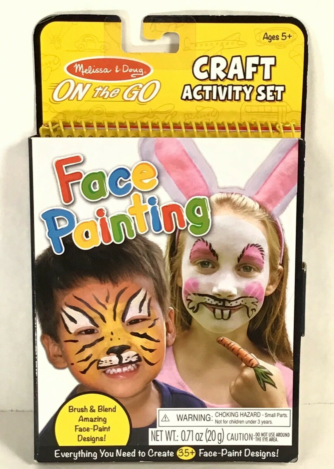 Melissa Doug Face Painting Design Kit Craft Activity Set Book Travel Play P5-20