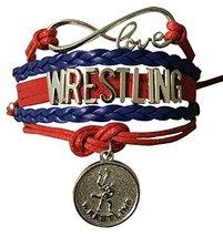 Wrestling Charm Infinity Bracelet- Wrestling Jewelry for Wrestlers,Teams... - $9.99