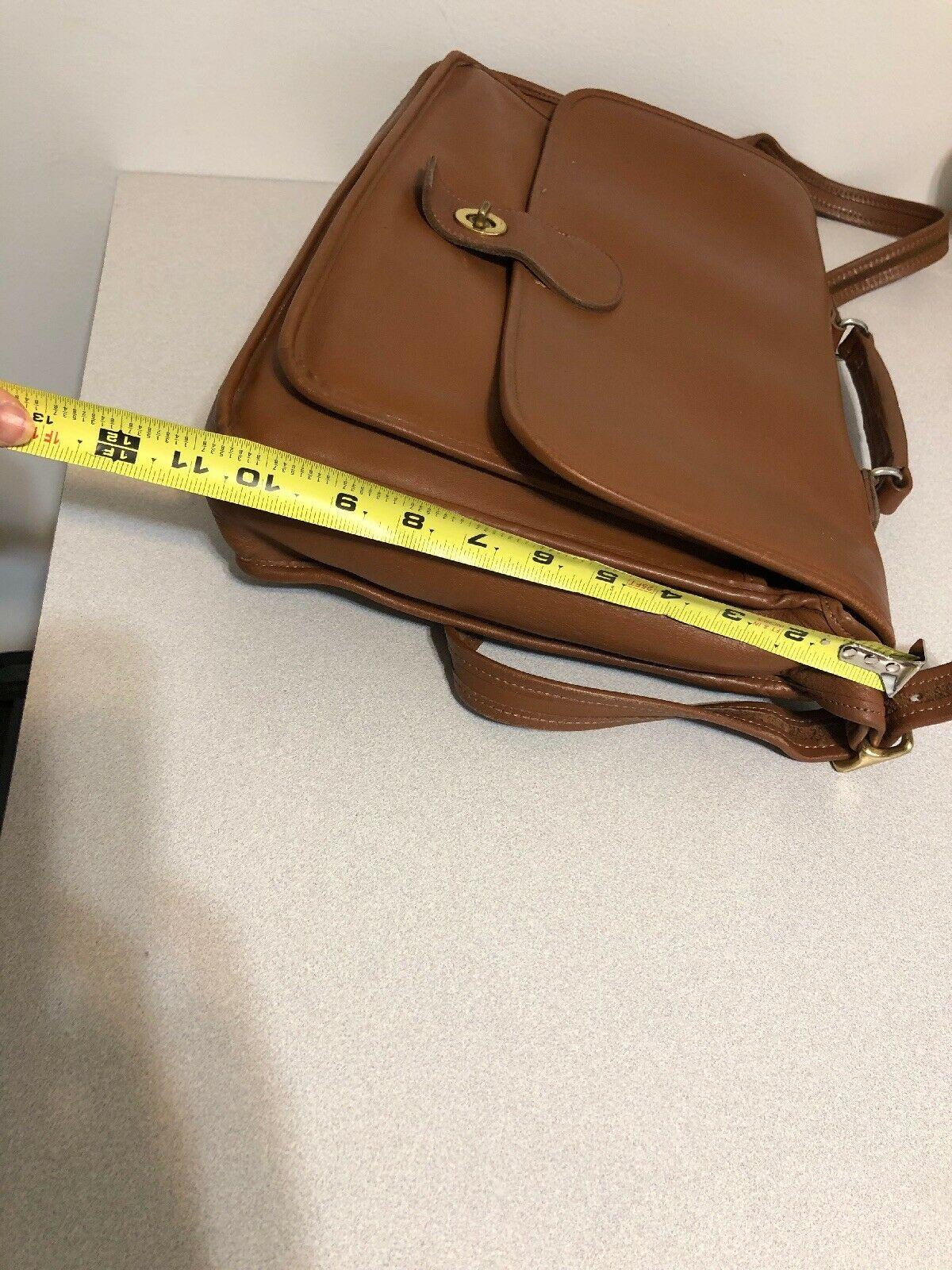 Vintage COACH L6C- 5180 Metropolitan Leather Messenger Attache Tan image 12