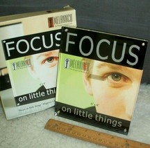 Picture Frame 4 x 6 Photo Focus On The Little Things Thick Etched Lucite... - $15.83