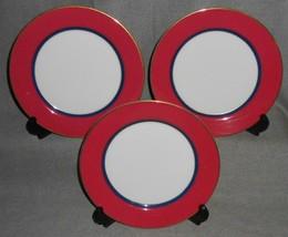 Set (3) Mikasa Grandeur Raspberry Pattern Salad Plates - $19.79
