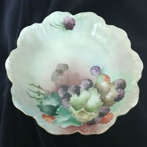 "Antique Rosenthal MALMAISON Bavaria Bowl Blackberry's Handpainted 6"" Nut... - $23.70"