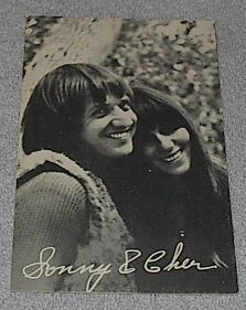 1960's Carnival Arcade Card Pop Vocal Group Sonny and Cher
