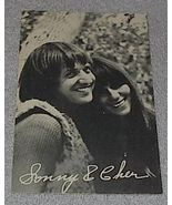 1960's Carnival Arcade Card Pop Vocal Group Sonny and Cher - $7.00