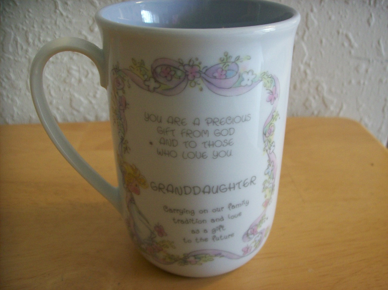 "1993 Precious Moments ""Granddaughter"" Coffee Cup  image 2"