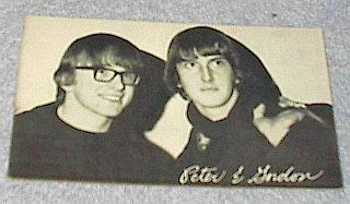 1960's Carnival Arcade Card Pop Vocal Group Peter and Gordon