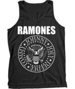 The Ramones-Classic Seal Logo-X-Large Black  Tanktop  T-shirt - $17.41