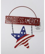 Decorative Patriotic Welcome Sign - New - Red, White & Blue - God Bless ... - $8.99