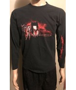 Apocalyptica Cello Band Long Sleeve Shirt Black Red Medium Unisex - $19.34