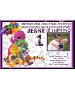 Barney BJ Baby Bop Photo Custom Birthday Party Invitation - $19.99