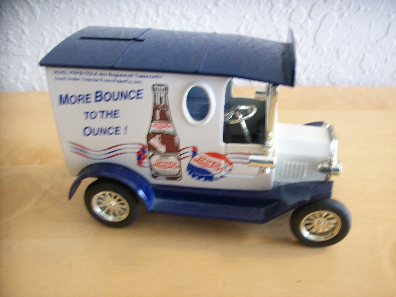 Golden Wheels Pepsi Ford Model T Delivery Truck Toy Coin Bank