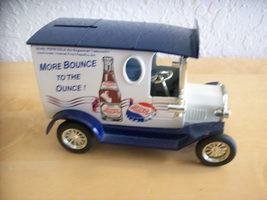 Golden Wheels Pepsi Ford Model T Delivery Truck Toy Coin Bank  image 1