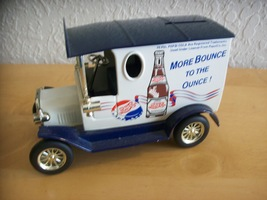 Golden Wheels Pepsi Ford Model T Delivery Truck Toy Coin Bank  image 2