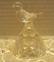Vintage Hofbauer 'The Byrdes' Crystal Bell and Small Candleholder image 5