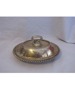 Friedman Silver Co. Silver Plate Oval Covered Butter Dish - $15.95